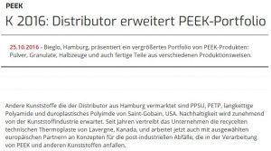 Plastverarbeiter reports about BIEGLO in 2016