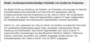 Plasticker reports BIEGLO#s company activities 2021