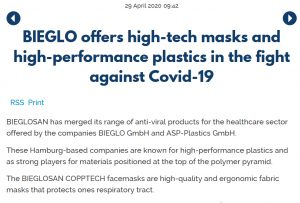 EPPM Press release 2020 Covid19 Masks
