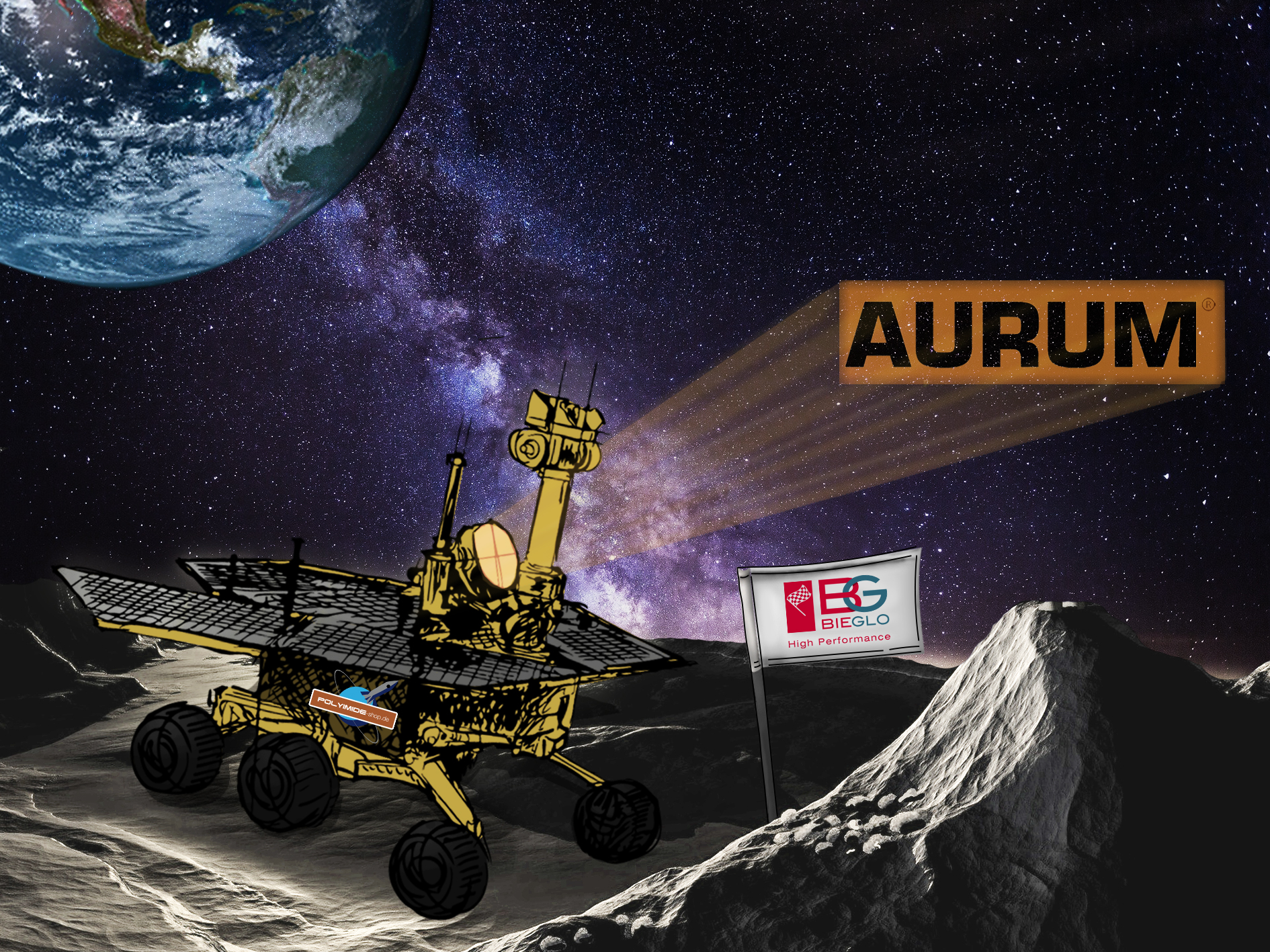 AURUM thermoplastic polyimide space project